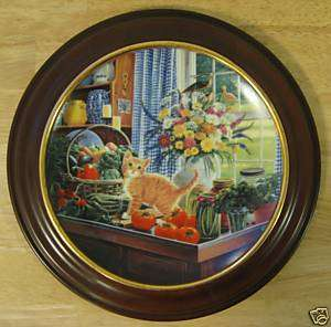 BRADFORD EXCHANGE Warm Country Moments Cat Kitten Plate