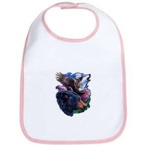 Baby Bib Petal Pink Bear Bald Eagle and Wolf: Everything Else