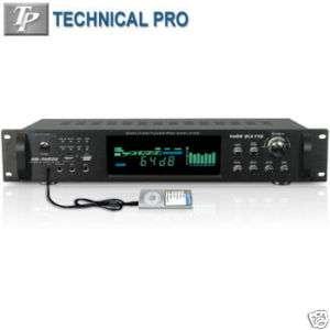 TECHNICAL PRO® 1500W HYBRID AMPLIFIER w/ AM/FM TUNER