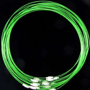 5pcs 1mm green chocker necklace bead wire collar 18 S2