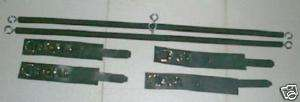 basic black All Leather cuffs W spreader bars j253