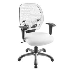 Deluxe Contemporary White Adjustable Office Chair
