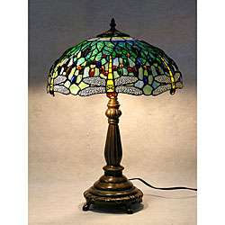 Tiffany style Blue Dragonfly Table Lamp