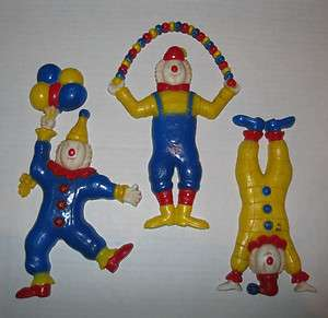 HOME INTERIORS Wall Plaques Accents CIRCUS CLOWNS balloons kids decor