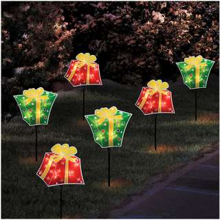 Holiday Time Glitter Pathway Marker Christmas Lights