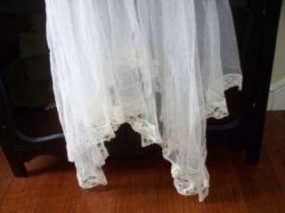 1920s 30s Wedding TIARA CROWN Ivory BEADED w/ Long Tulle VEIL