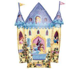 Disney Princess Castle Shaped Balloon Mylar Foil Birthday Party