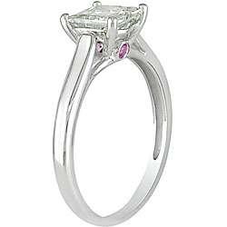 14k Gold 1ct TDW Diamond and Pink Sapphire Fashion Ring (H I, I2 I3