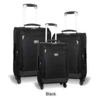 J World Crescent 3 Piece 4 Wheels Expandable Luggage Set Luggage