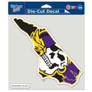 East Carolina Pirates 8x8 Die Cut Decal