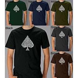 Los Angeles Pop Art Mens Spade Poker T shirt