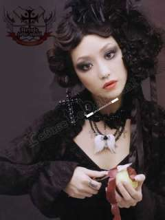 GOTHIC DOLL Wedding Bridal Fairy Lolita White Veil HAT