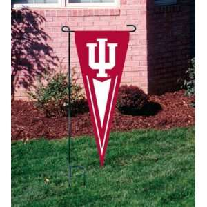 INDIANA HOOSIERS OFFICIAL LOGO PENNANT GARDEN FLAG + STAND