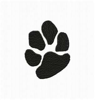 new single one dog paw print embroidery machine design on cd the
