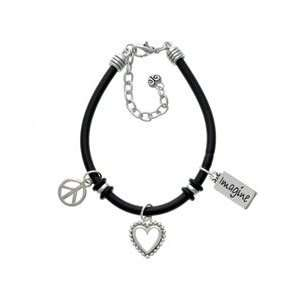 Imagine Black Peace Love Charm Bracelet Arts, Crafts