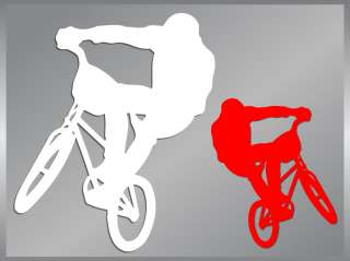 BMX RIDER Bicycle Ride cut vinyl decal silhouette