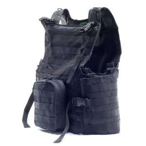 Gen X MOLLE Modular Tactical Vest System   Black   Sports