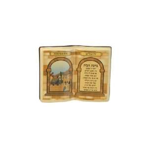 11 Centimeter Ceramic House Blessing with Book Shape and