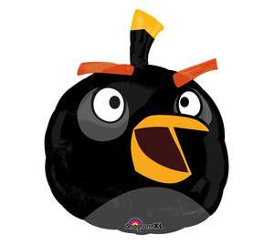 ANGRY BIRDS Game BLACK Bird 24 Birthday Party Mylar Decor Foil