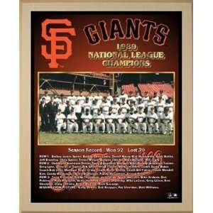 1989 National League Champions San Francisco Giants