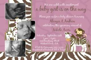 Cocalo Jacana Safari Jungle Baby Shower Invitations