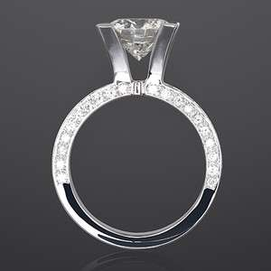 VS 2.5 CARAT CERTIFIED DIAMOND ENGAGEMENT RING 14K WHITE GOLD