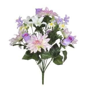 20 Lavender/Purple/Cream Dahlia/Rose Bud/Lily Bush