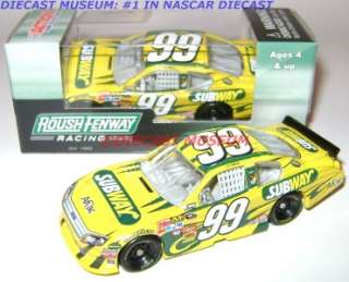 CARL EDWARDS #99 SUBWAY 2011 DIECAST AFLAC 164 ACTION