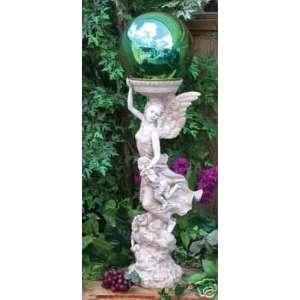 Graceful Angel Gazing Globe Stand Patio, Lawn & Garden