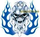 BIO SKULL BLUE FLAME Decal / Sticker   CAR SUV TRUCK