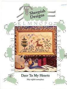 Deer To My Heart Counted Cross Stitch Pattern