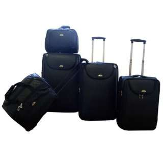 American Flyer Basketweave 5 Piece Luggage Set Luggage