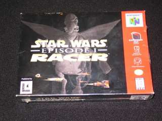 Star Wars Episode I RACER N64 FACTORY SEALED FAST NEW