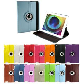Aqua Blue 360 Rotating Swivel Magnetic Smart Leather Stand Cover Case