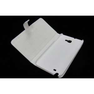 White Genuine Leather bookbook Protect Case Holder for