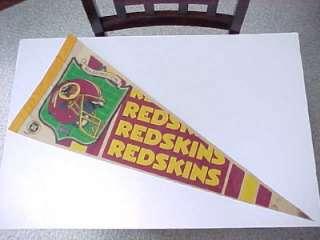 Vintage WASHINGTON REDSKINS NFL Eastern Div. PENNANT