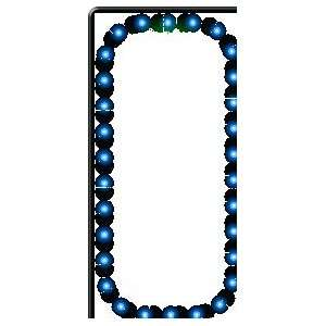 Sign   Open Vertical   Blue Border & Green Letters: Office Products