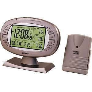 Sharp Atomic Weather Station Alarm Clock SPC315:  Home