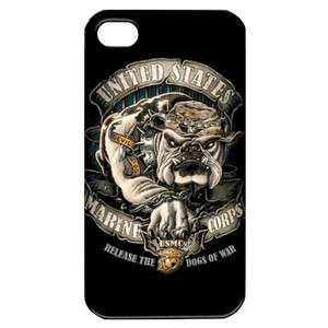 NEW Dog Marines Corps USMC 1 Image in iPhone 4 or 4S Hard Plastic Case