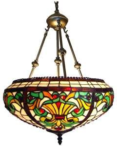 Victorian Stained Glass Hanging Pendant Ceiling Light Fixture 16 Lamp