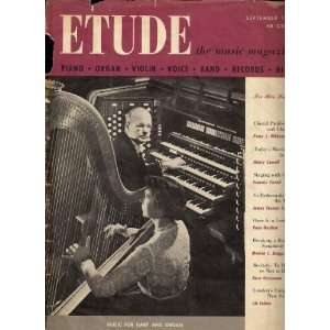 Etude Music Magazine   September 1954 Unknown Books