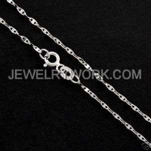 Genuine Solid 18KT White Gold Chain Necklace