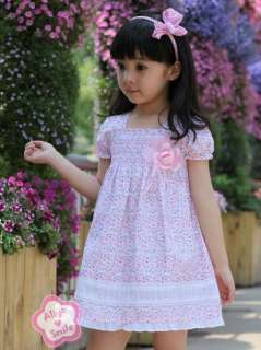 NWT Pink Purple Floral Girls Dress Spring/Summer Flower Dress SZ 2T 3T