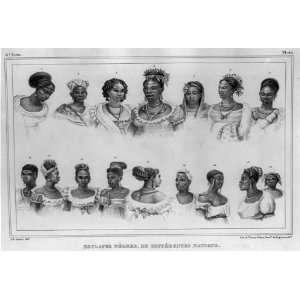 ,différentes nation,women,clothing,dress,slaves,style,Brazil,1834