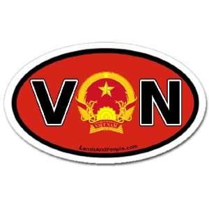 Vietnam VN and Vietnamese Flag Car Bumper Sticker Decal