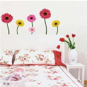 DAISY FLOWER Adhesive Removable Wall Home Decor Accents Stickers