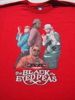 BLACK EYED PEAS civic tour 2XL concert T SHIRT fergie xxl