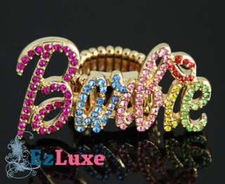 Iced Out NICKI MINAJ Barbie letter women Hip Hop RING