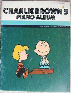 PEANUTS CHARLIE BROWNS Piano Album Music Book 1980