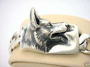Unique Silver Sterling German Shepherd Dog Bracelet